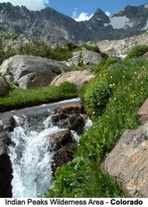 Lake Isabel in Indian Peaks Wilderness Area, Colorado